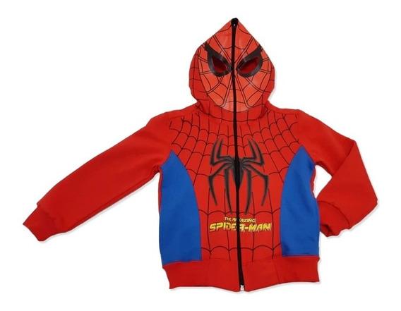 Campera Disfraz Hombre Araña Capitán Dragón Friza T 4 - 12