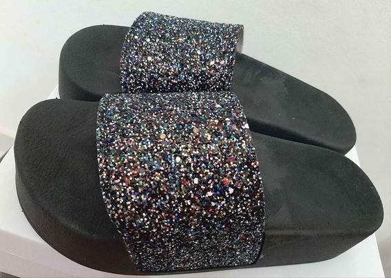 Sandalias Plataforma Alta Con Glitter
