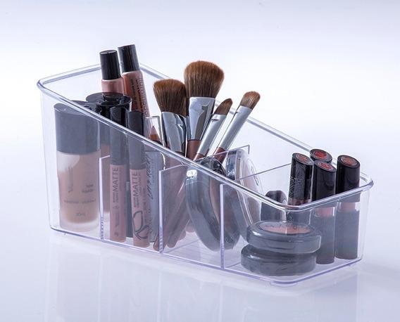 Organizador De Maquiagem Transparente Porta Pincel Acrílico