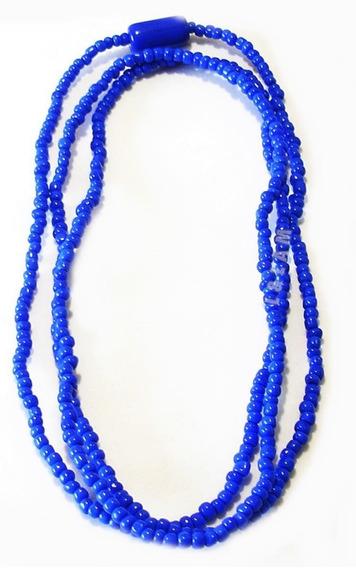 Guia De Miçanga Azul Escuro Ogum Com Firma Umbanda Candomblé