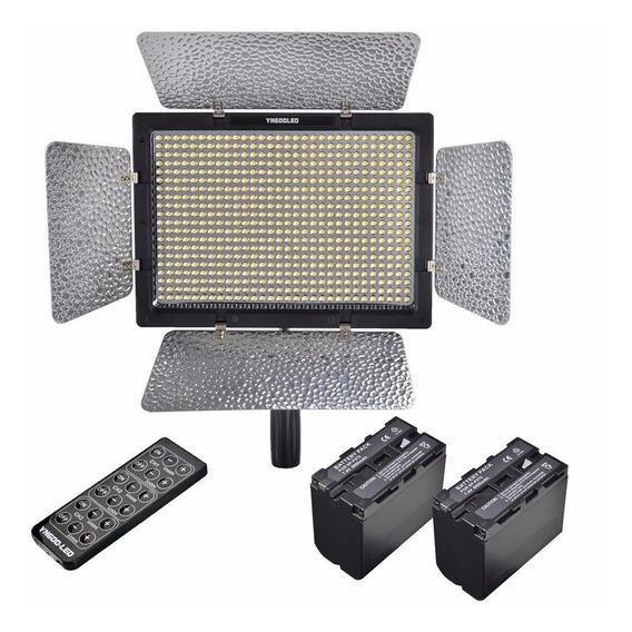 Iluminador Yongnuo Yn-600 Leds + 2 Bat F970 + Carreg+ Fonte