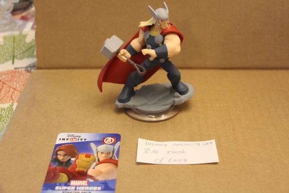 = Disney Infinity Boneco - Usa 2.0 Thor Com Card Vingadores