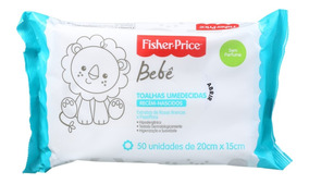Fisher-price Bebê Sem Perfume - Lenços De Limpeza (50 Unid)