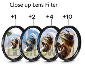 Kit Filtros Lentes Close Up +1+2+4+10 Macro Canon T7 T7i T61