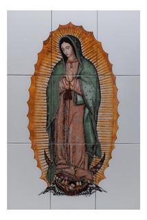 Virgen De Guadalupe Mural De Azulejos Tamaño 60x90 Cm