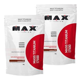 2 Unid Mass 17500 Hipercalórico 3kg Max Titanium