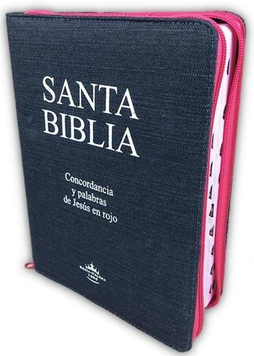 Biblia Grande Jean Rosada Cierre E Indice Reina Valera 1960