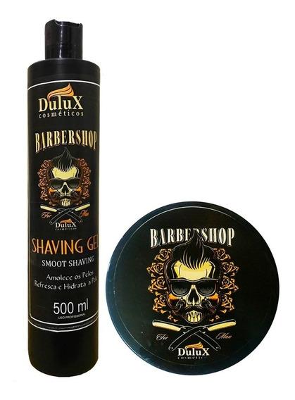 Shaving Gel De Barbear 500g + Pomada Modeladora Preta Dulux