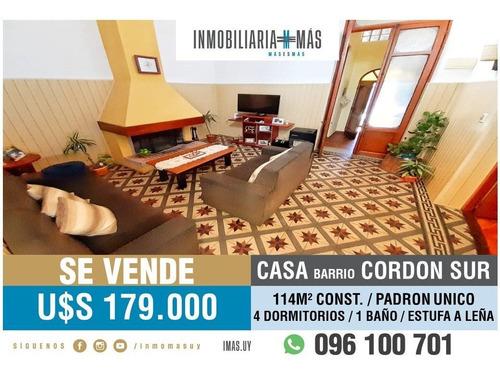 Casa Venta Cordon Montevideo Imas.uy L *