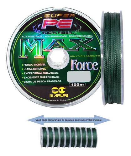 Imagem 1 de 3 de Linha Multifilamento Maruri Max Force 4x - 0,20mm 25lb 100m