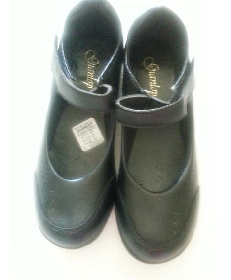 Zapatos Escolares Para Niña Talla 38 Color Negro