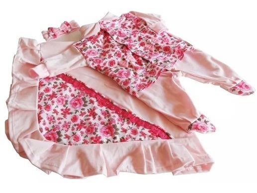 Saída De Maternidade Floral 4 Peças Preço De Fábrica