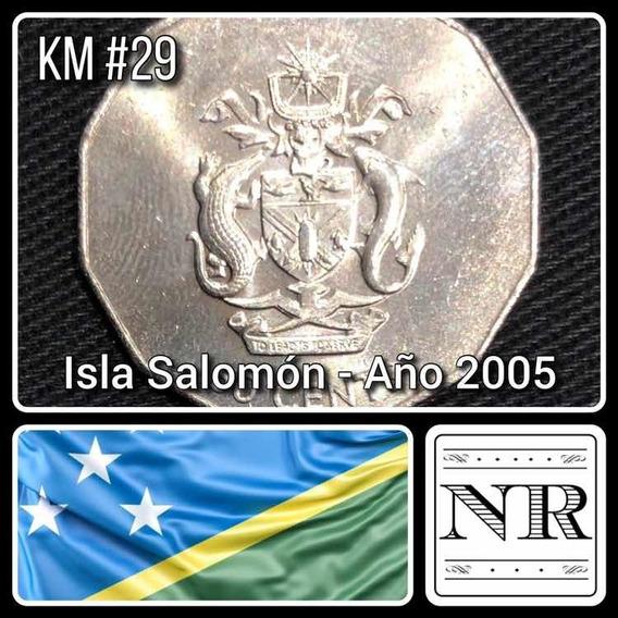 Islas Salomon - 50 Cents - Año 2005 - Km # 29 - Aguila