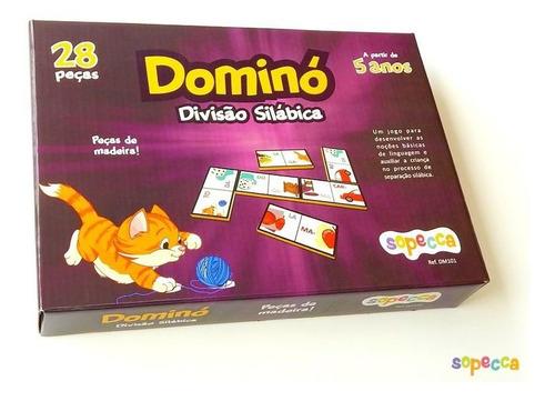 -dominó Divisão Silábica 28 Peças - Sopecca  Dm101