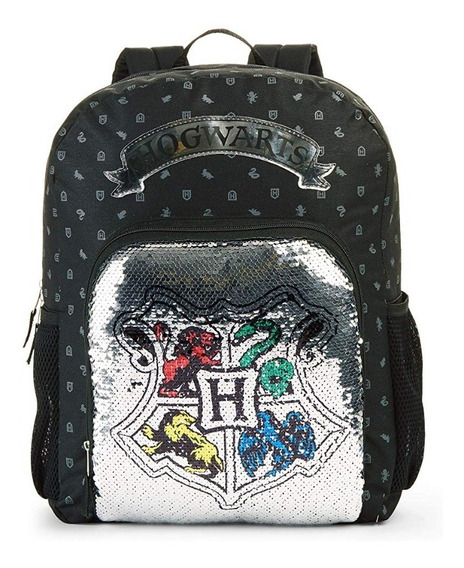 Mochila De Harry Potter Con Lentejuela Reversible