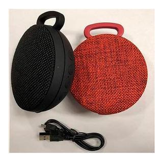 Parlante Bluetooth Redondo Portátil Silicona Y Tela