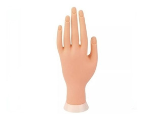 Mão Postiça Treino Manicure Dedo Postiço Unha Gel Acrigel