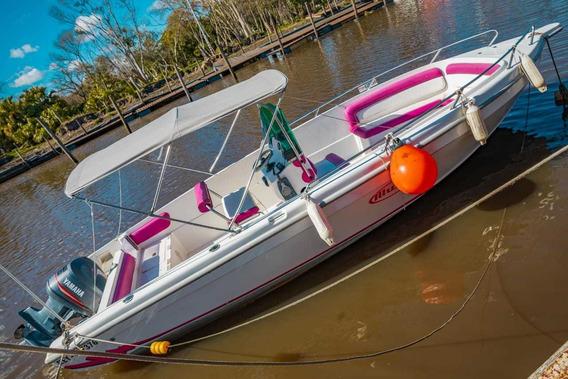 Lancha Con Yamaha Fuera De Borda 130hp Pesca Y Uso Deportivo