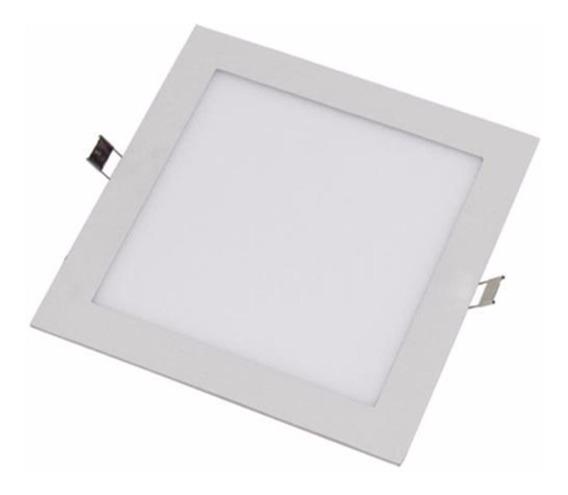 2 Painel Plafon Luminaria Led Quadrado 6500k Ultra Slim 18w