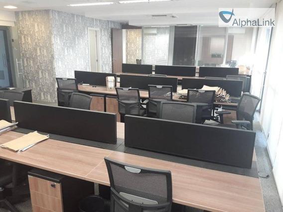 Sala Comercial 160 M² Mobiliada - Edifício Monte Carlo - Empresarial 18 Do Forte - Alphaville - Sa0124