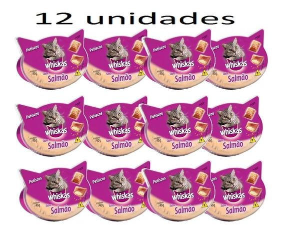 12 X Petisco Whiskas Temptations Salmão - 40 G