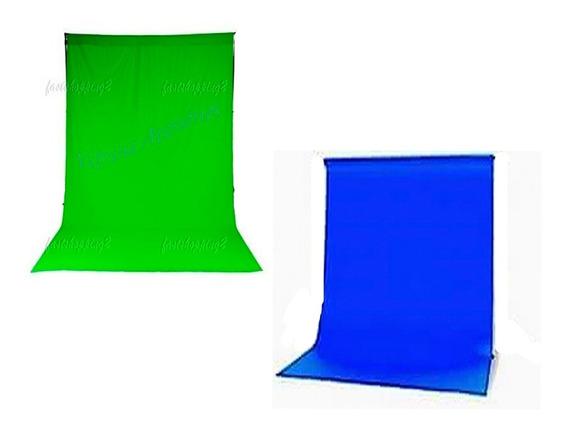 2 Tecido 3x4 Verde/azul Estudio Fundo Infinito Estúdio Fotográfico Youtuber Foto Chroma Key Igreja Ringligth Escola