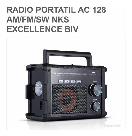 Rádio Portátil Ac 128 Am/fm/sw Nks