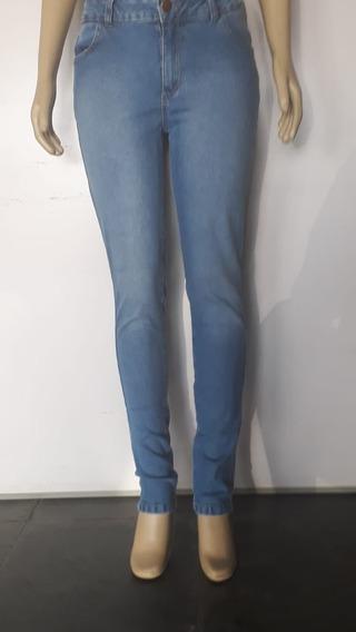 Calça Jeans Feminina Cintura Média Skinny