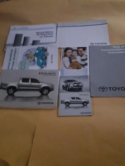 Manual Proprietário Hilux Toyota 2010 2011 Kit Completo