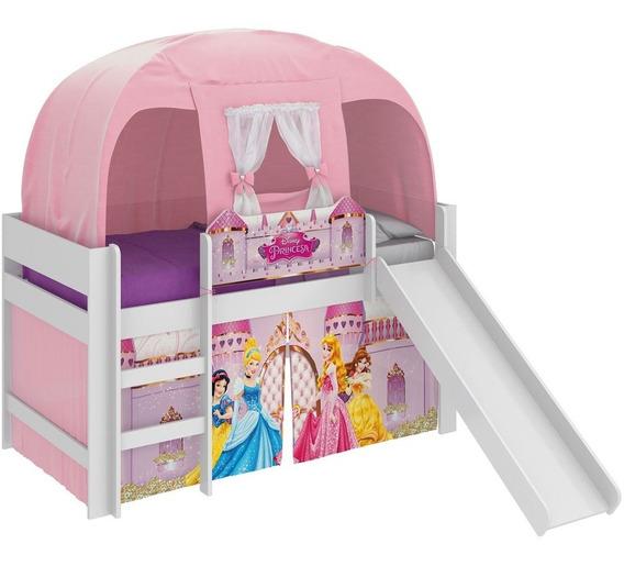 Cama Infantil Escorrega Barraca Princesas Disney Pura Magia