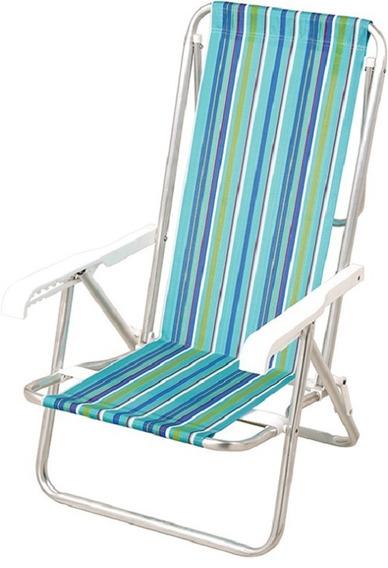 Cadeira Reclinável 8 Posições - Alumínio - Mor