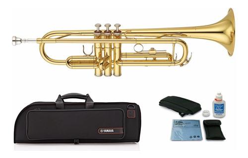 Imagen 1 de 4 de Yamaha Trompeta Dorada Profesional Ytr2330
