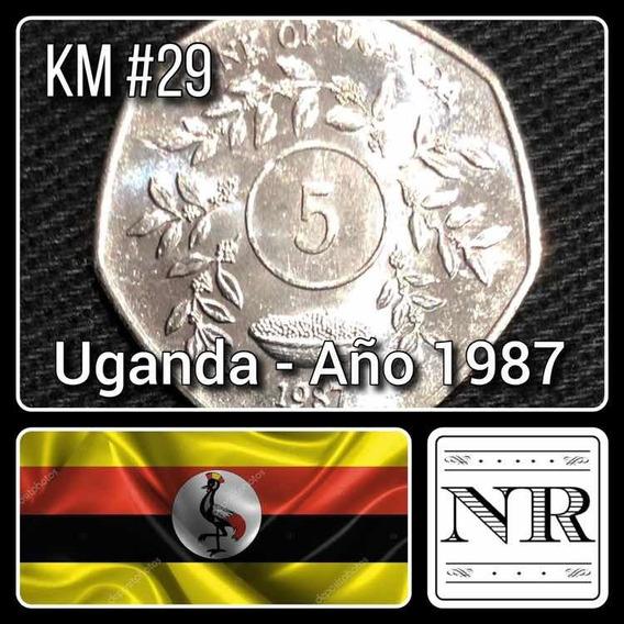 Uganda - 5 Shillings - Año 1987 - Km # 29 - Africa