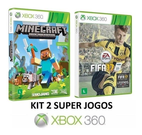 Minecraft + Fifa 17 - Midia Fisica Original Lacrado Xbox 360