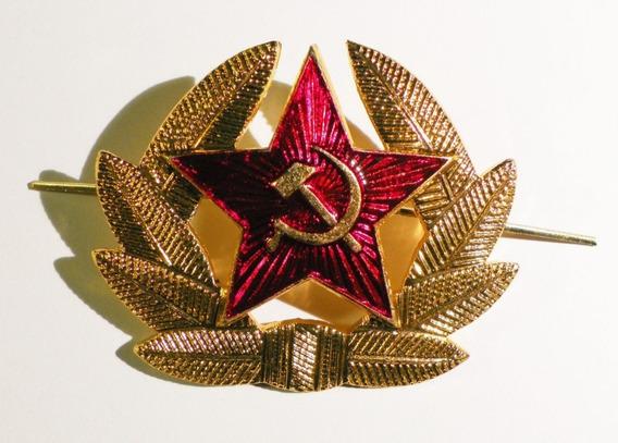 Escudo Cccp Urss Para Gorro Ushanka Ejército Rojo Pin Insign