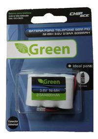 Bateria 3.6v 600mah 2/3 Aa Plug Universal Green | 013-3623