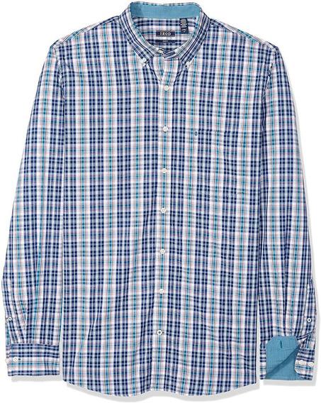 Camisa Izod Premium Slim Fit 4xlt Natural Stretch Big