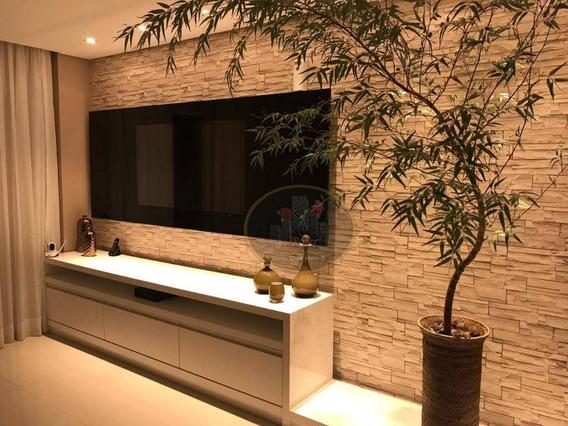 Apartamento Com 3 Dormitórios Para Alugar, 178 M² Por R$ 14.800,00/mês - Gonzaga - Santos/sp - Ap4334