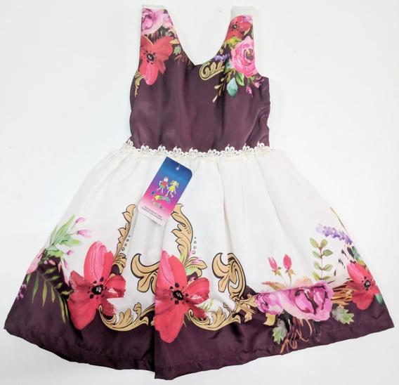 Vestido Infantil Luxo Vermelho Tema Natal
