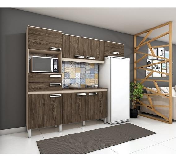 Cozinha Compacta B107 07 Portas 02 Gavetas Briz