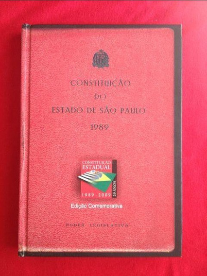 Livro - Constituição Do Estado De São Paulo 1989 - Seminovo