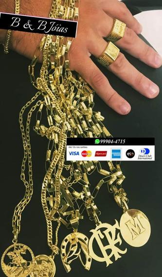 Cordão De Prata 925 Com Banho De Ouro 24k