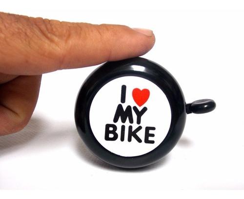 Buzina Campainha Trim Trim Preto De Metal I Love My Bike