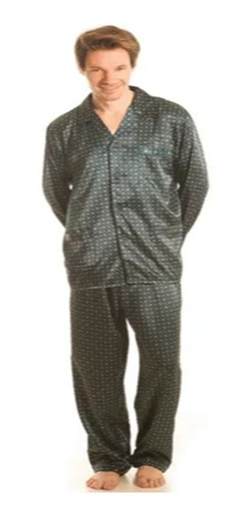 Pijama Hombre Seda Boselli Manga Larga Pantalon Largo Pijama