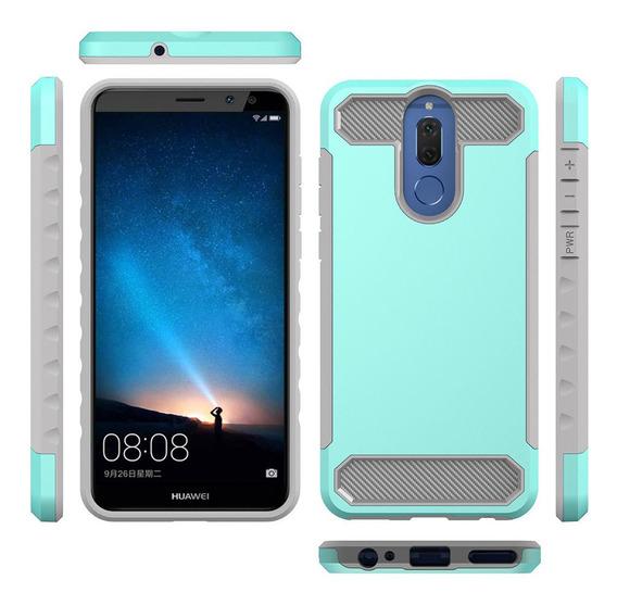 Para Huawei Companheiro 10 Lite Proteção Padrão De Fibra