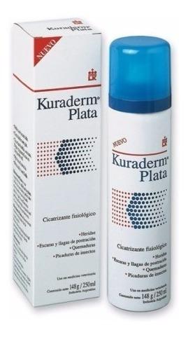Cicatrizante Bactericida Kuraderm Plata Perros Y Gatos 250ml