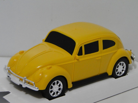 Vew Miniatura Fusca Amarelo 1969 Carrinho Coleção Volkswagem