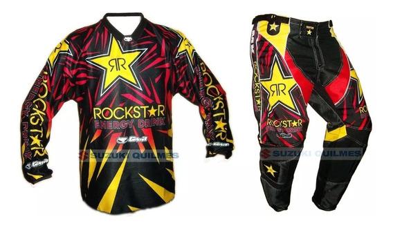 Conjunto Motocross Pantalon Y Buzo Rockstar Gama S M L Xl 2x