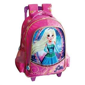 Mochila Escolar Meninas Carrinho Top Wild Princesa