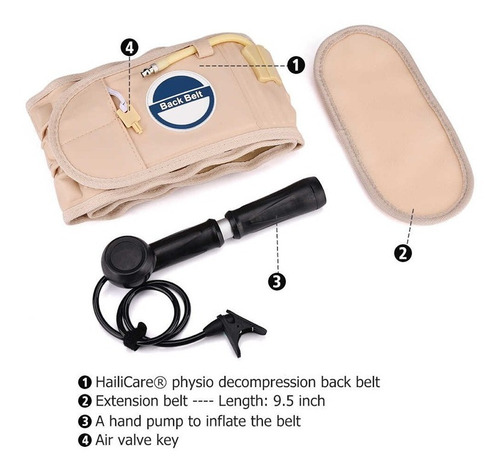 Cinturón De Tracción Apoyo Lumbar Para Dolor De Espalda